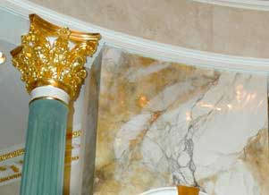 Venetian PLaster as Glassy Marble