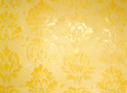 Waxed Damask over Plaster