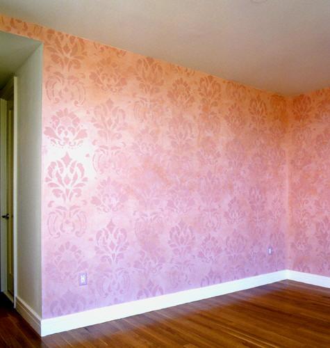 : صبغة جدران غرف بنات : غرف